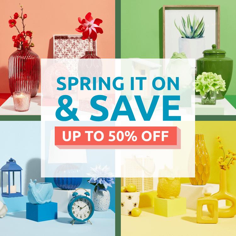 Spring it on Save Landing Page