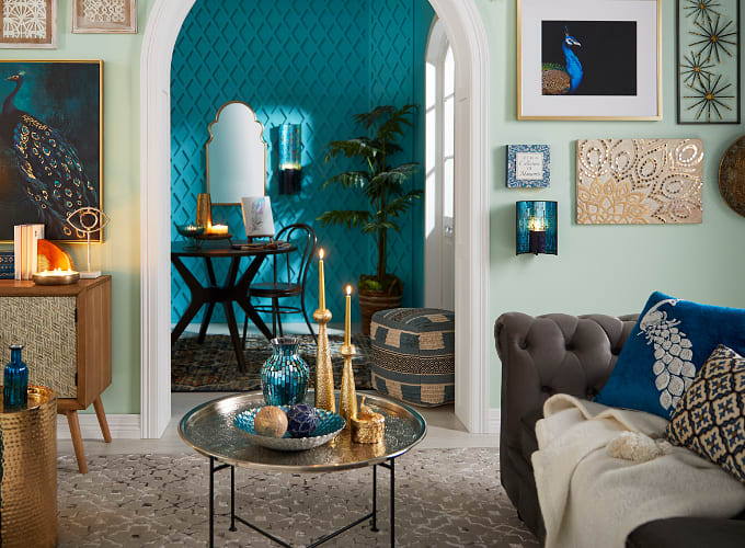 Shop Jodhpur Blues Living Room
