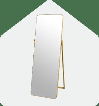 Into the wild floor mirror