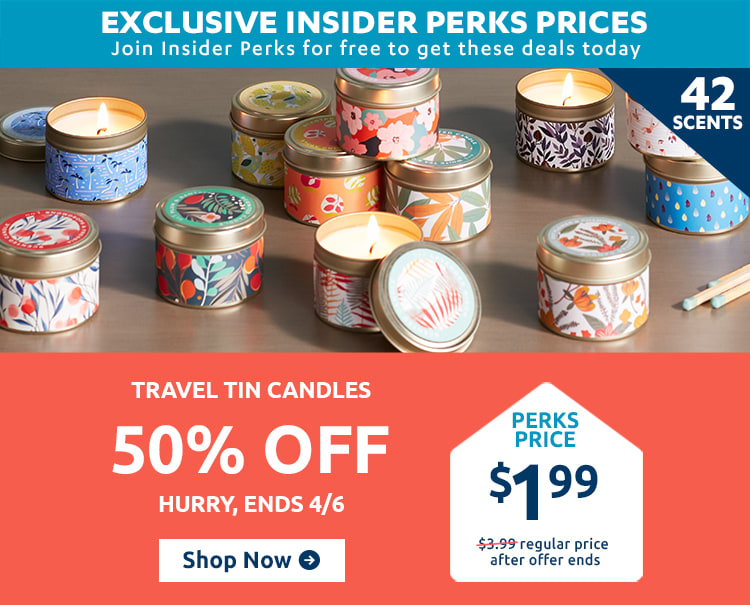 Travel Tin Candles
