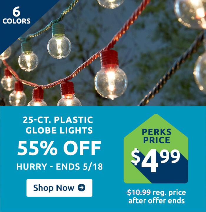 Shop 25 Ct. Plastic Globe Lights