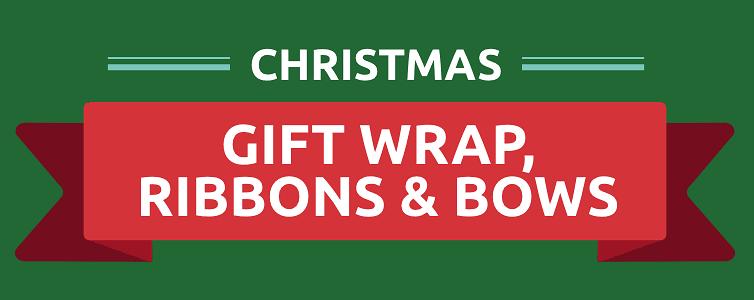 Shop Christmas Gift wrap, ribbons and bows