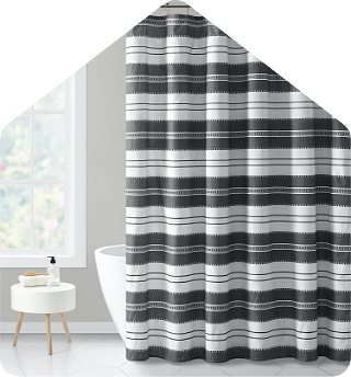Tulum stripe 13 piece shower curtain set