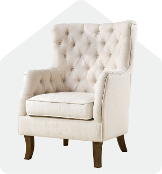 Norfolk white tufted chair