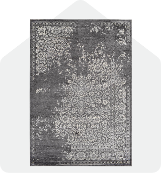 Dark grey cozy rug