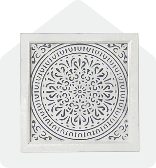 Embossed Medallion Wall Deco