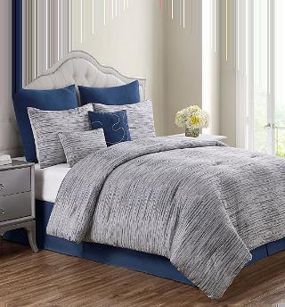 Graden Navy 8PC king Comforter Set