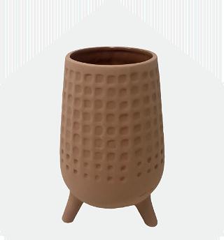 Brown Rust Ceramic Vase