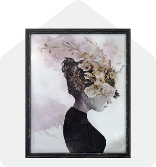 Black Frame Beauty Fig Portrait