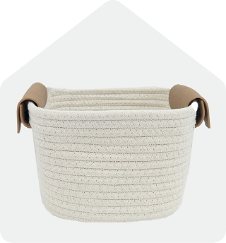 Rope Leather Basket
