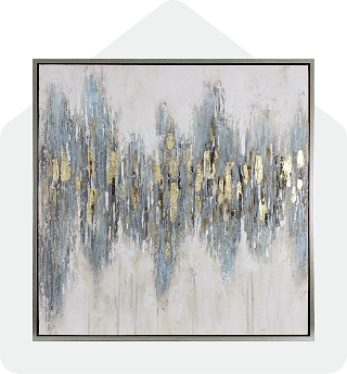 Gold Abstract Textured Wall Art