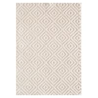 (D456) Ronin Ivory Tufted Area Rug With Non-Slip Back, 3x5