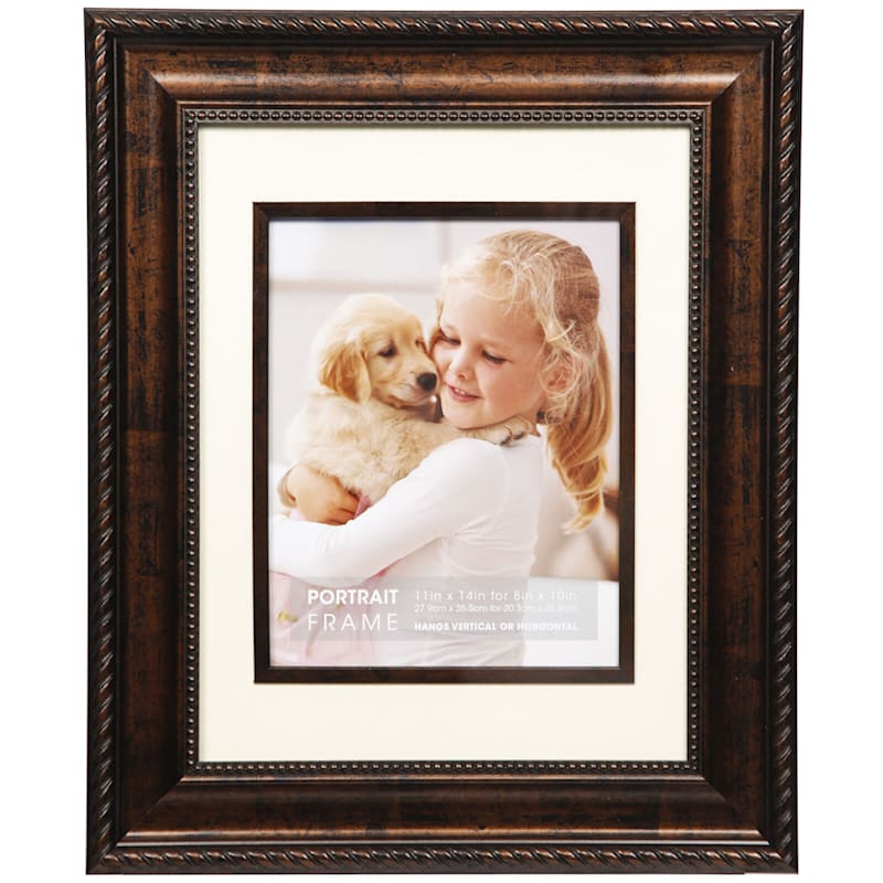 11X14 Matted To 8X10 Bronze Ornate Portrait Photo Frame