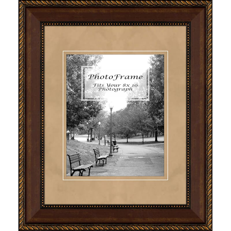11X14 Matted To 8X10 Tan Mat Portrait Photo Frame