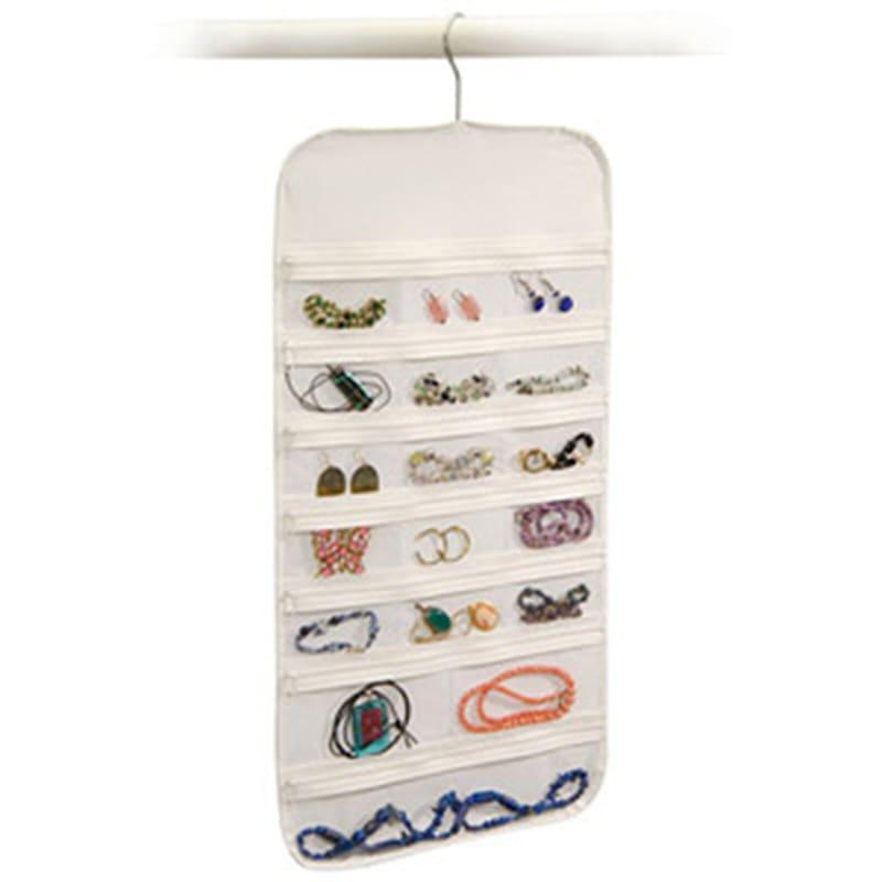 37 Pocket Jewelry Organizer White