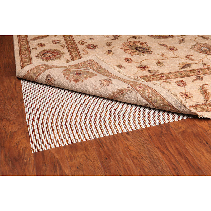 large Polyester Ivory Rug Pad