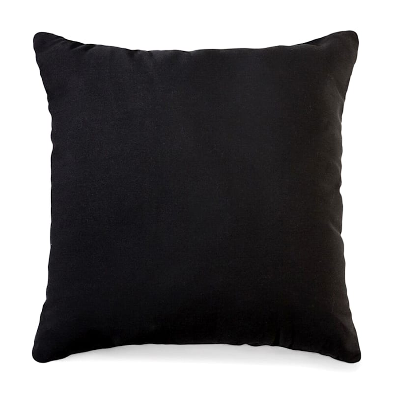 Black Solid Color Pillow 18X18
