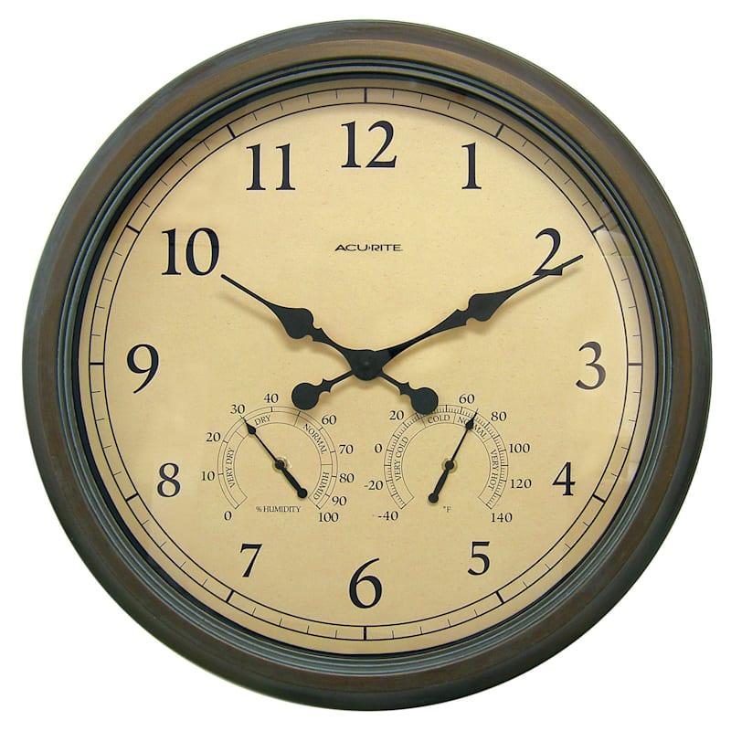Acurite 24in. Copper Patina Indoor/Outdoor Clock/Temperature/Humidity