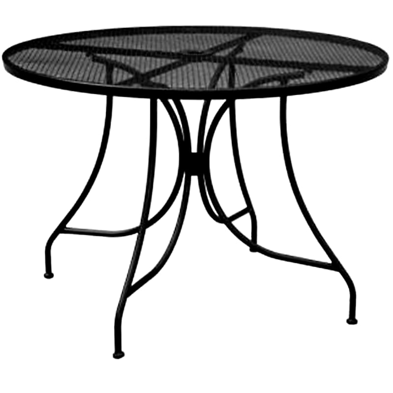 """Steel Wrought Iron Round Dining Table, 42"""""""