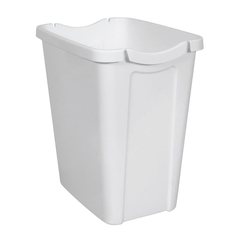 Hefty 14qt Hide A Bag Wastebasket White