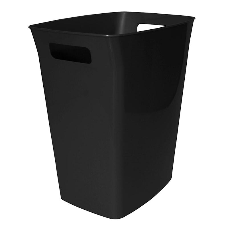 Hefty 6 Gal Handled Wastebasket Black