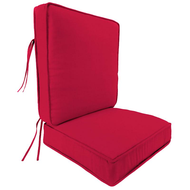 Pompeii Red 2 Piece Deep Seat Cushion
