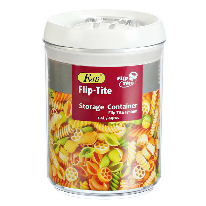 Flip Tite Medium Stackable Airtight Bpa Free Acrylic Canister