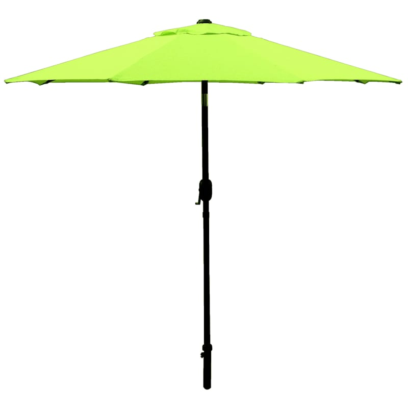 Steel Grass Round Crank And Tilt Outdoor Umbrella, 7.5'