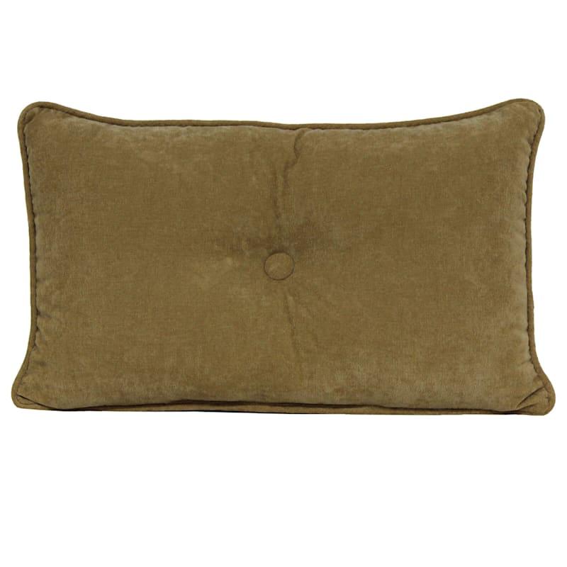 Avalon Gold Plush Oblong Button Pillow 13X20
