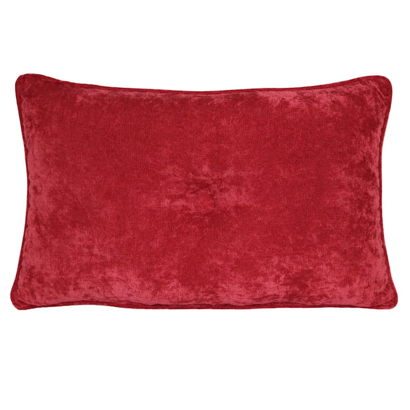 Avalon Picante Plush Oblong Button Pillow 13X20
