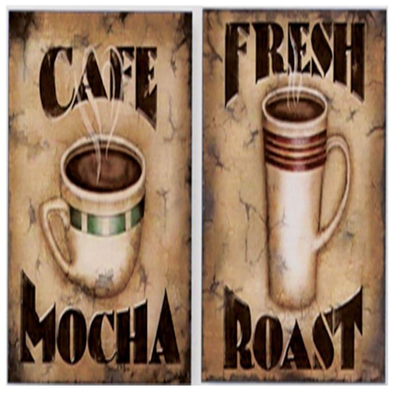 12X12 Coffee Art Canvas