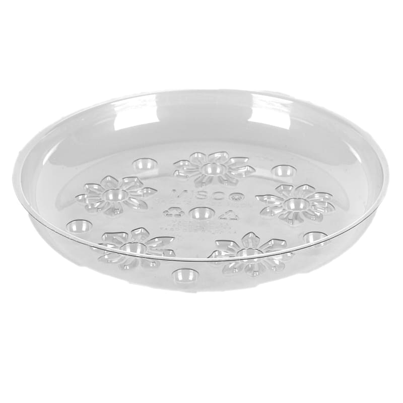10in. Clear Plastic Saucer