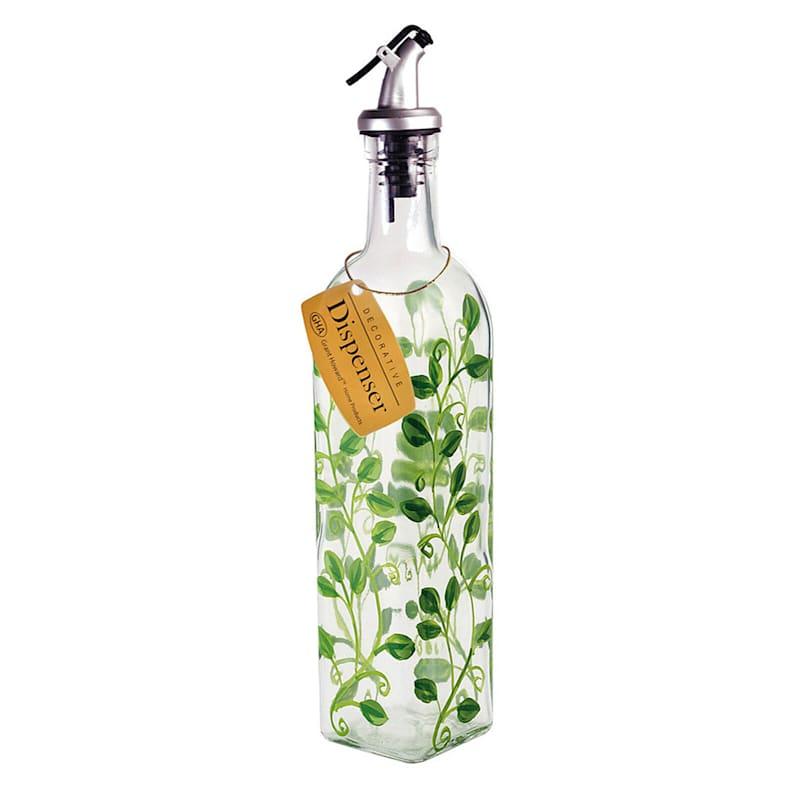 Glass Oil Cruet/Vine Pattern