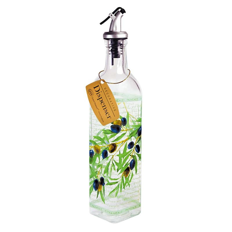 Glass Oil Cruet/Olive Branch Pattern