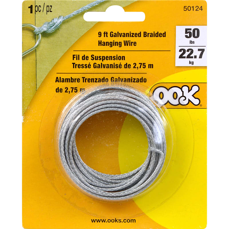 9 Feet 50lb Galvanized Braided Hanging Wire
