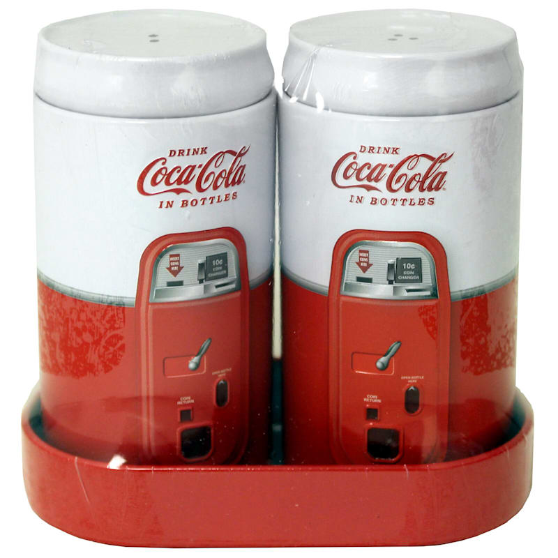 Coca Cola Salt Pepper Set/Caddy