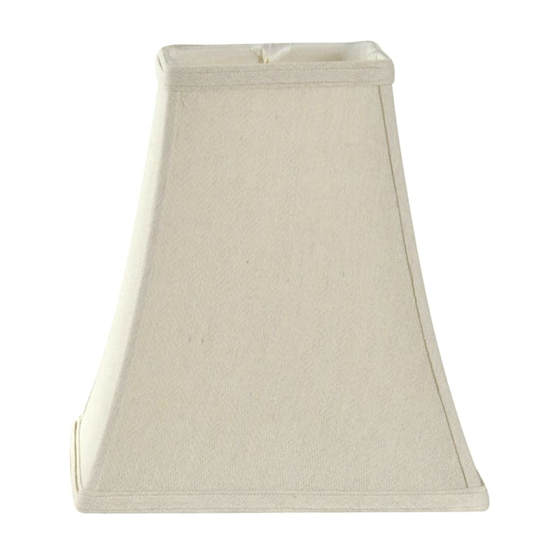5X9X10 Natural Square Bell Linen Accent Shade