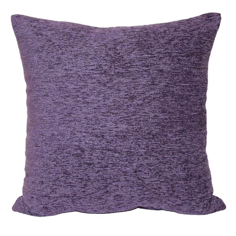 Crown Purple Chenille Pillow 17X17