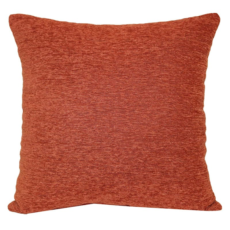 Crown Rust Chenille Oversized Pillow 24X24