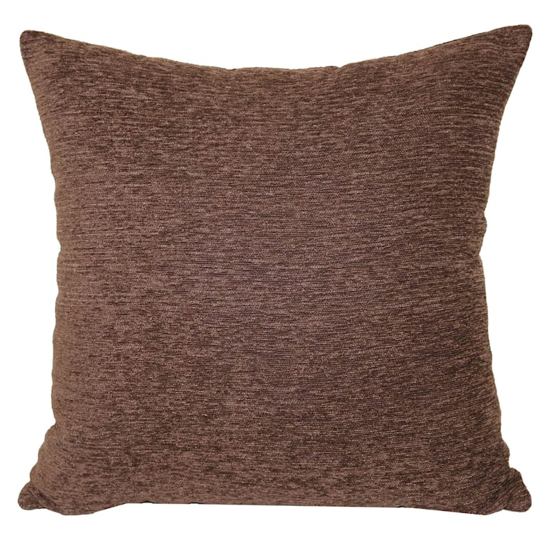 Crown Chocolate Chenille Oversized Pillow 24X24