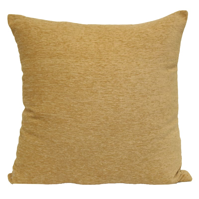 Large Chenille Gold Throw Pillow