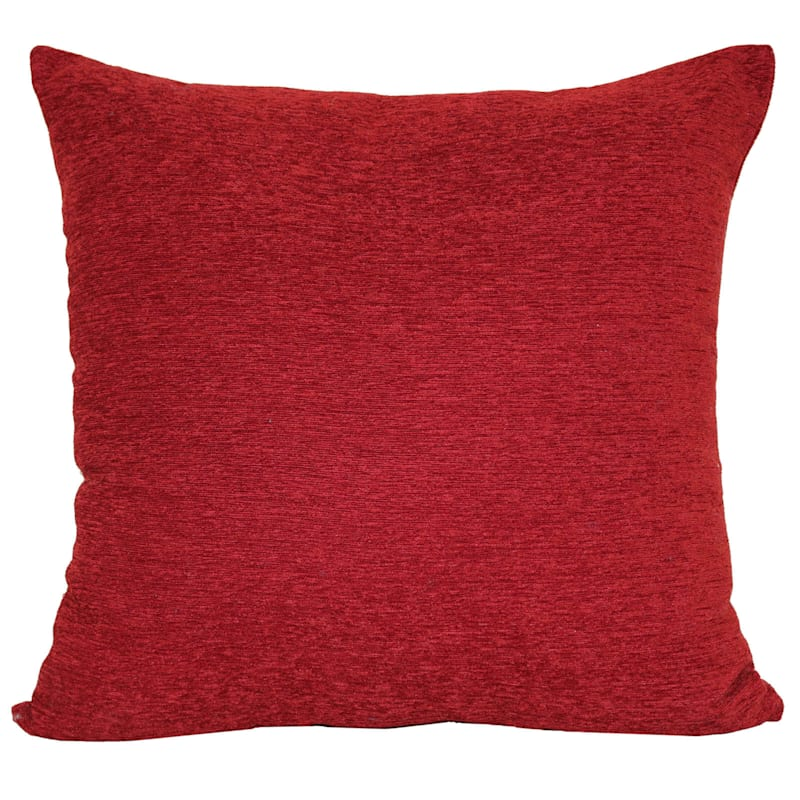 Crown Red Chenille Oversized Pillow Rio Red 24X24