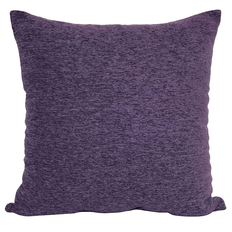 Crown Purple Chenille Oversized Pillow 24X24