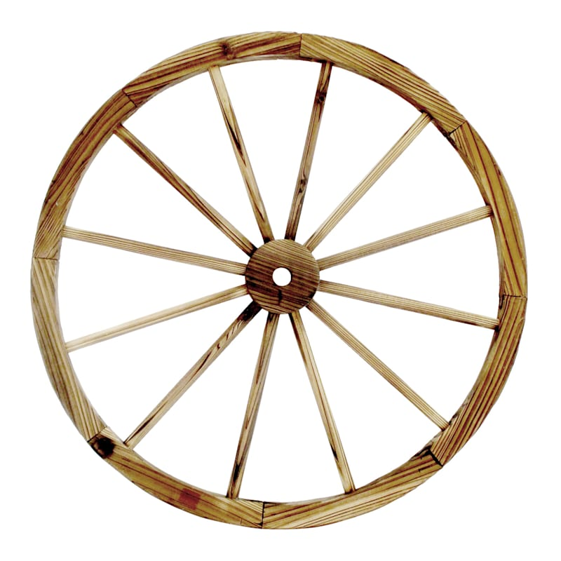 31.5in. Wood Wagon Wheel Outdoor Rustic D�cor