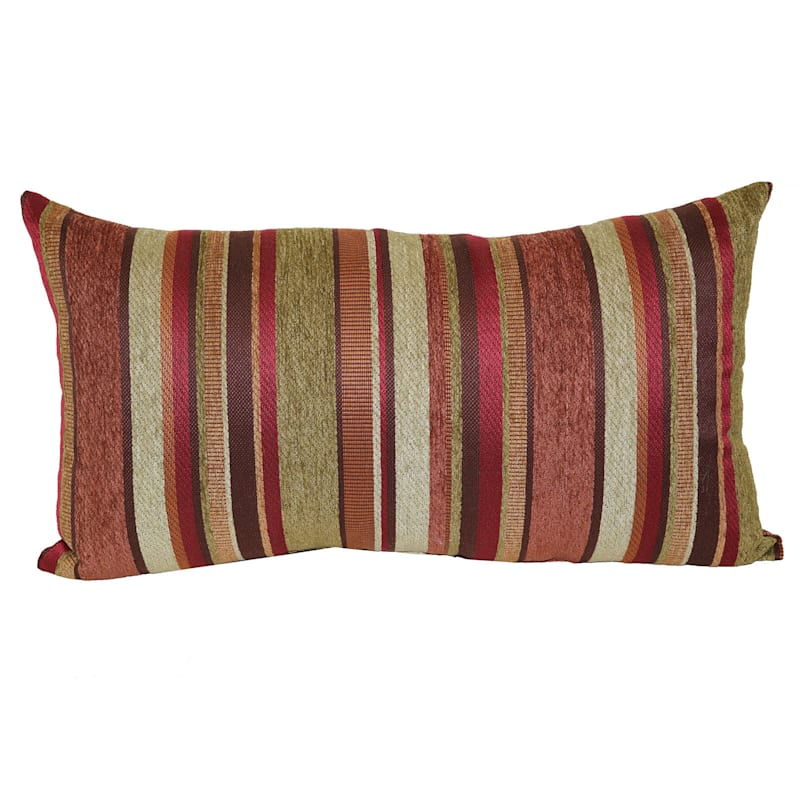 Carnival Stripe Chenille Pillow 14x24 At Home