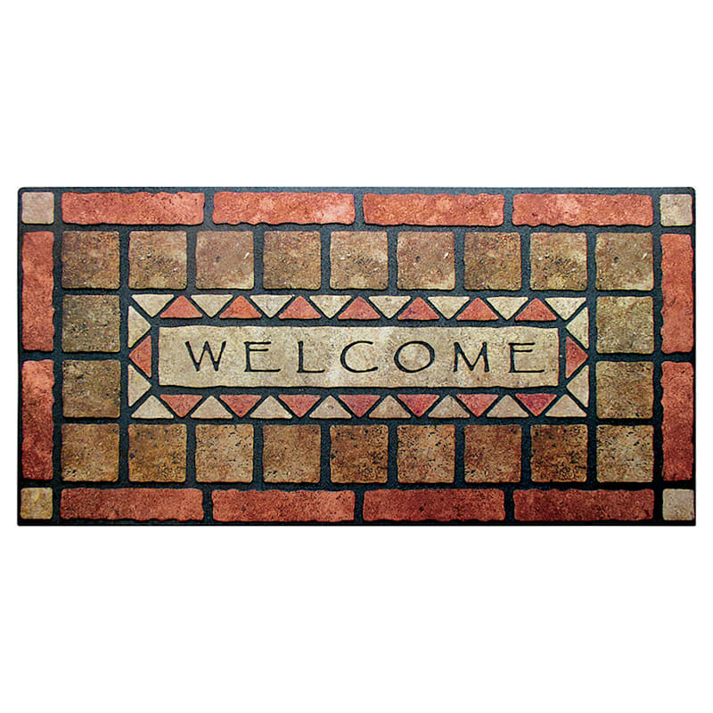 Welcome Stones Doormat 24 X 48-in