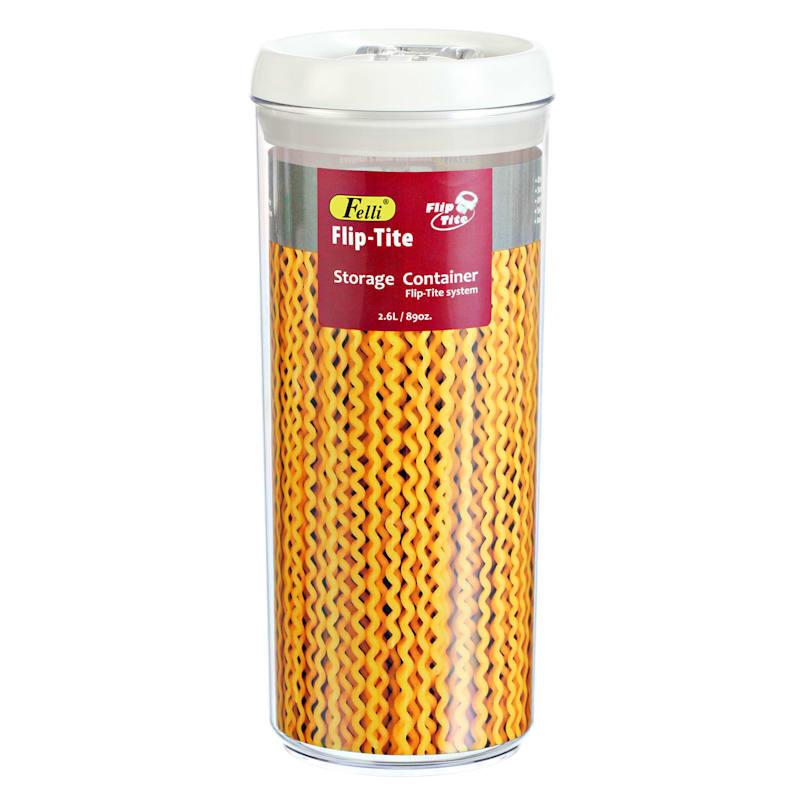 Flip Tite Medium Stackable Airtight Bpa Free Acrylic Pasta Canister