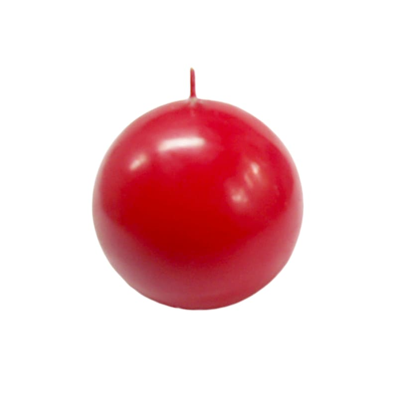 2.8in. Overdip Sphere Candle Red