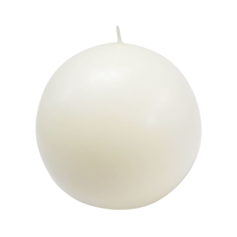 4in. Overdip Sphere Candle Ivory