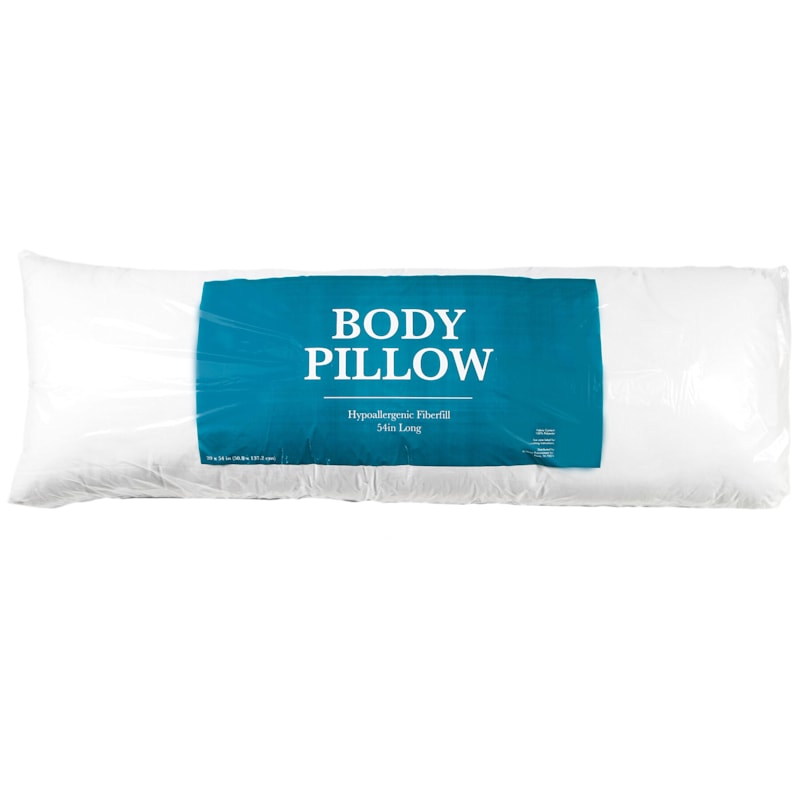 Body Pillow White 21X54